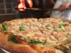 Pizza al Pesto con Pollo