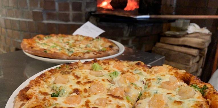 Pizza con Gamberetto i Brocoli!